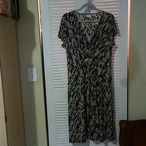 Woman's Faux Wrap Super Stretchy Dress